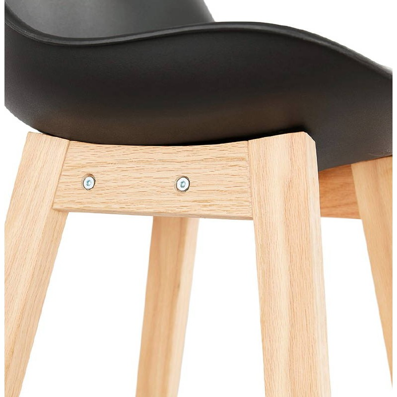 Tabouret de bar chaise de bar design scandinave DYLAN (noir) - image 37703