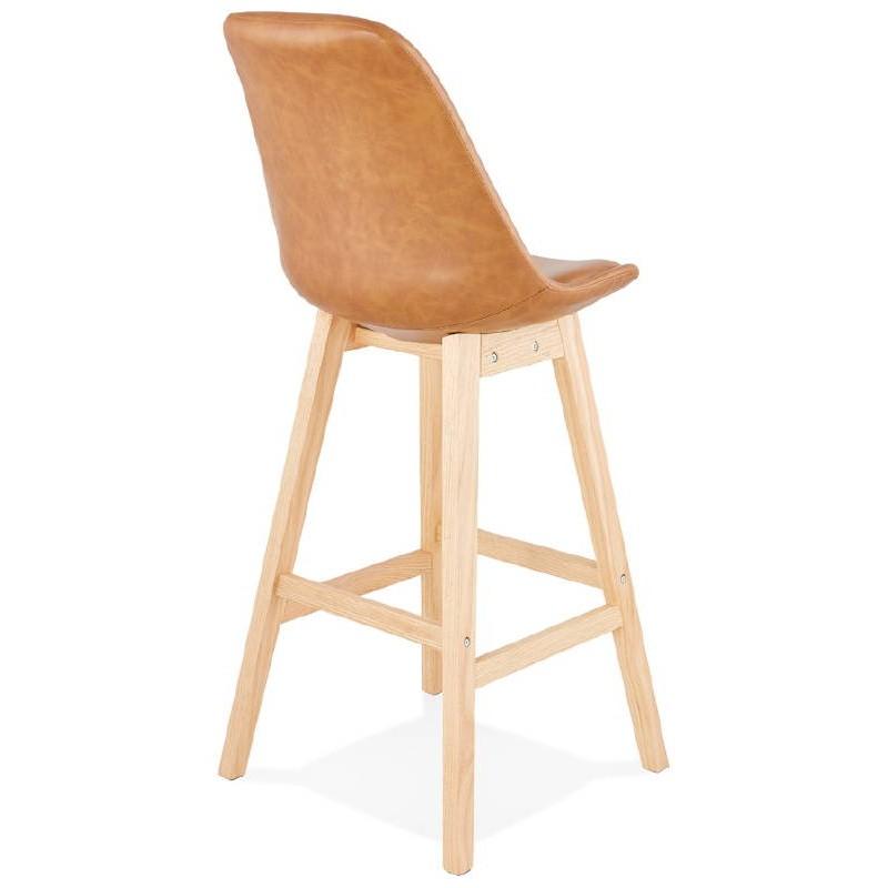 Tabouret de bar chaise de bar design DAIVY (marron clair) - image 37726