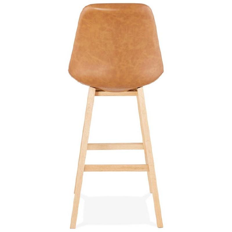 Tabouret de bar chaise de bar design DAIVY (marron clair) - image 37727
