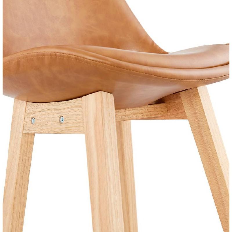 Tabouret de bar chaise de bar design DAIVY (marron clair) - image 37733