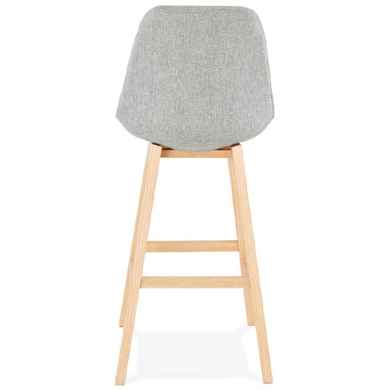 Tabouret de bar chaise de bar design scandinave ILDA en tissu (gris clair) - image 37739