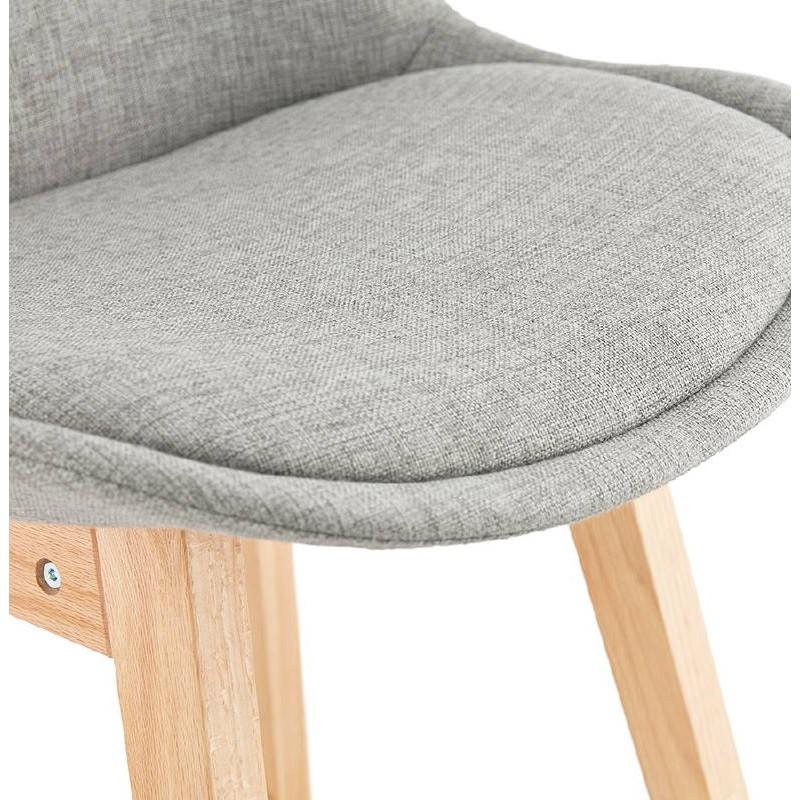 Tabouret de bar chaise de bar design scandinave ILDA en tissu (gris clair) - image 37741