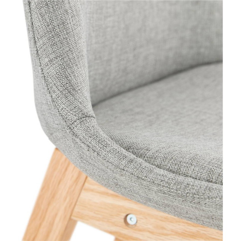 Tabouret de bar chaise de bar design scandinave ILDA en tissu (gris clair) - image 37743