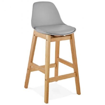 Taburete de bar de diseño escandinavo media altura Florencia MINI bar silla (gris claro)