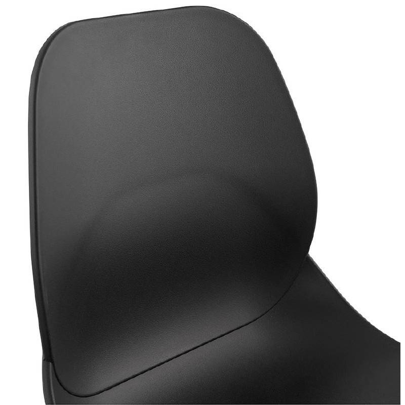 Tabouret de bar chaise de bar industriel mi-hauteur empilable JULIETTE MINI (noir) - image 37831