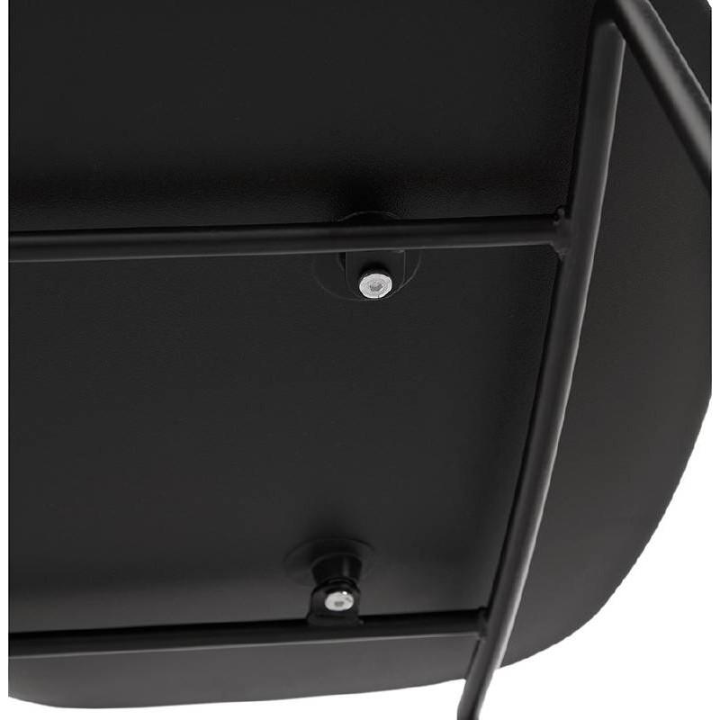 Tabouret de bar chaise de bar industriel mi-hauteur empilable JULIETTE MINI (noir) - image 37836