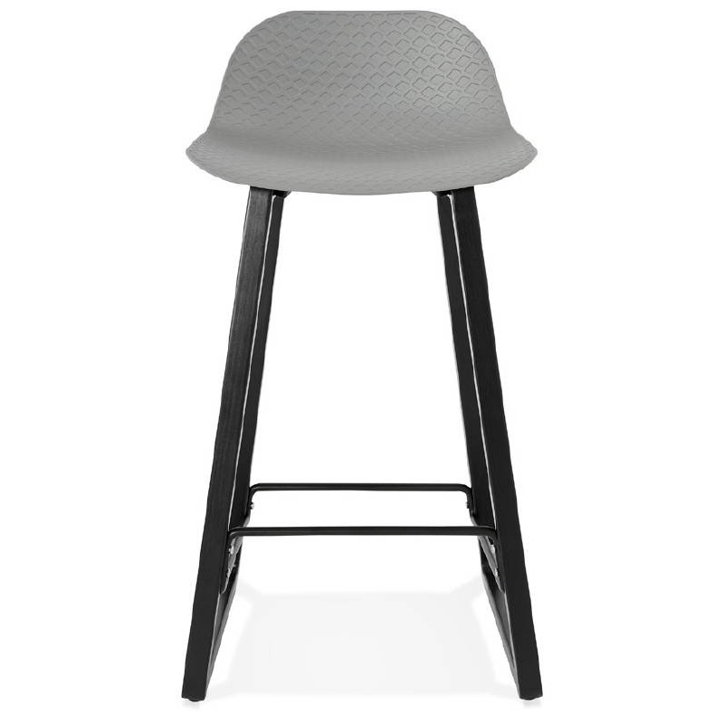 Tabouret de bar chaise de bar mi-hauteur design OBELINE MINI (gris clair) - image 37854