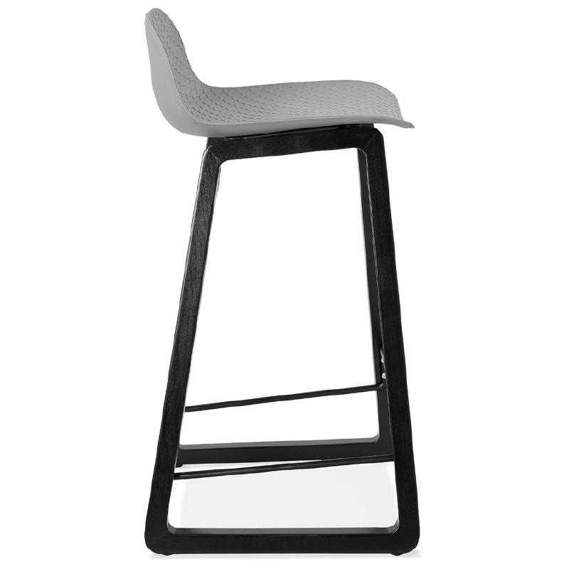 Tabouret de bar chaise de bar mi-hauteur design OBELINE MINI (gris clair) - image 37855