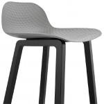 Tabouret de bar chaise de bar mi-hauteur design OBELINE MINI (gris clair)