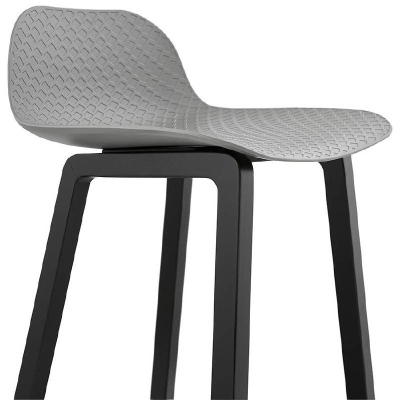 Tabouret de bar chaise de bar mi-hauteur design OBELINE MINI (gris clair) - image 37858