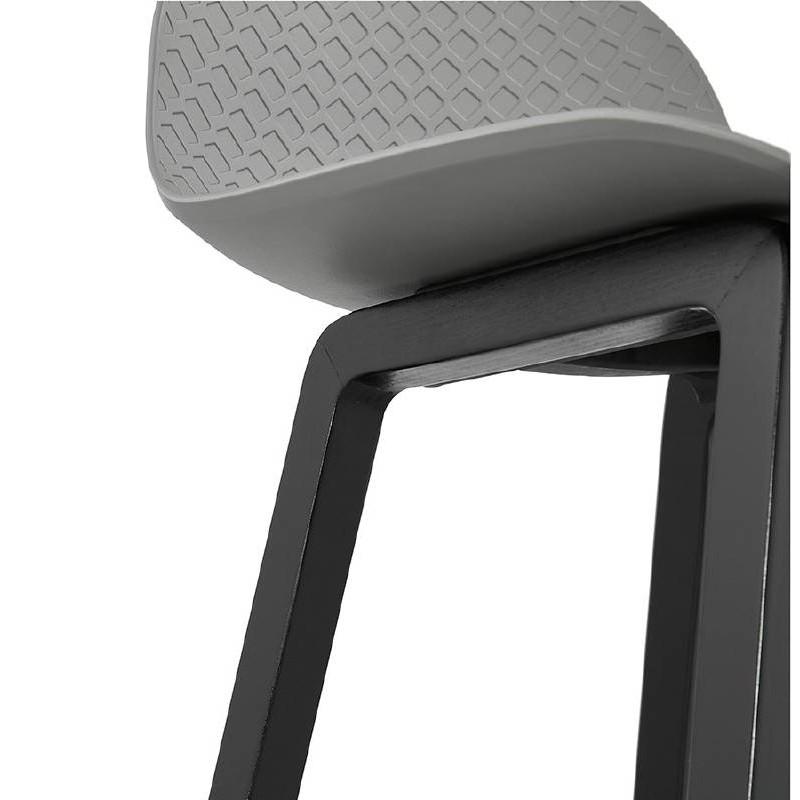 Tabouret de bar chaise de bar mi-hauteur design OBELINE MINI (gris clair) - image 37859