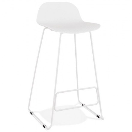 Bar bar design Ulysses (white) white metal legs chair stool