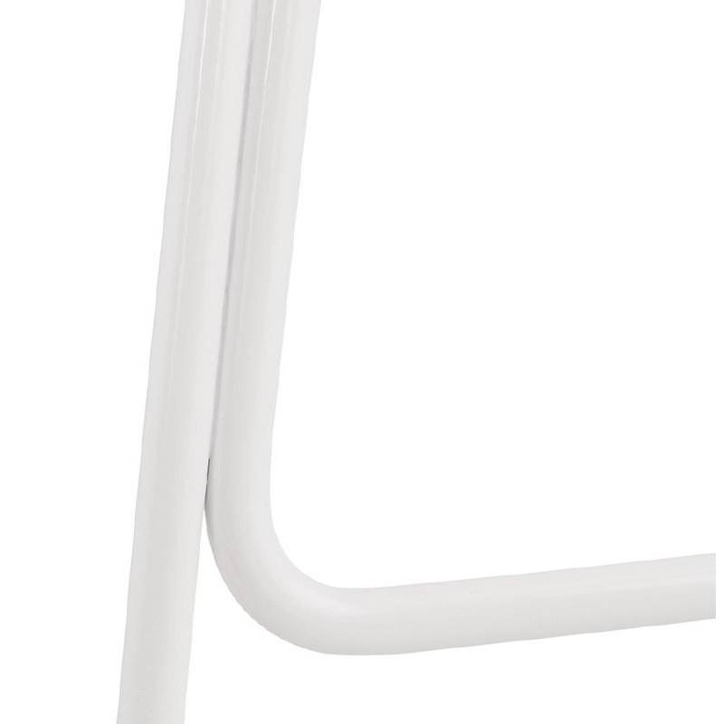 Tabouret de bar chaise de bar design ULYSSE pieds métal blanc (bleu ciel) - image 37979