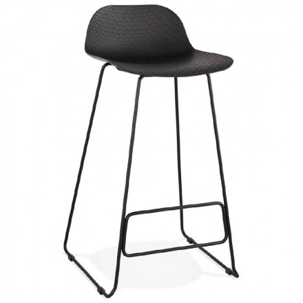 Bar bar design Ulysses (black) black metal legs chair stool