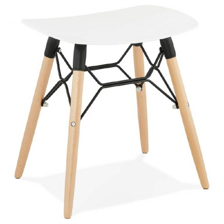 Low stool design Scandinavian GASPARD (white)