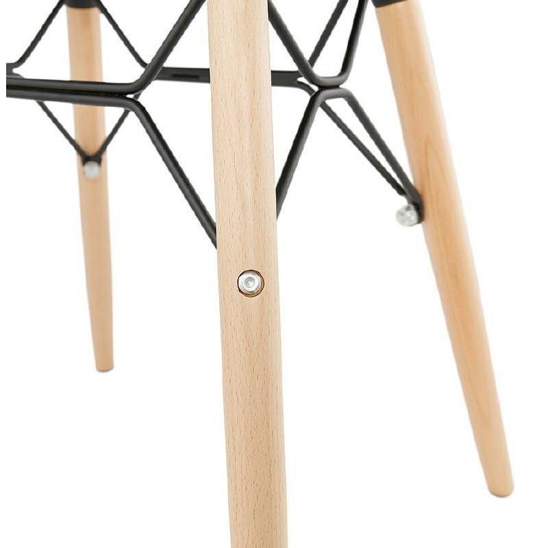 Low stool design Scandinavian GASPARD (white) - image 38134
