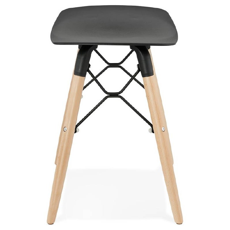 taburete bajo de dise o escandinavo gaspard negro. Black Bedroom Furniture Sets. Home Design Ideas