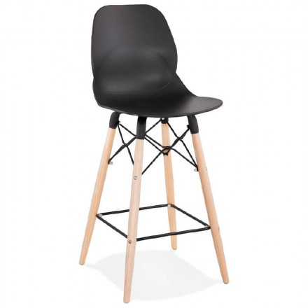 Bar bar halfway up Scandinavian PACO (black) chair stool