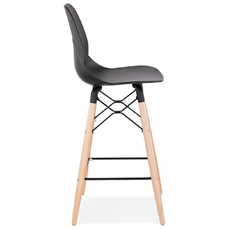 La barra hasta la mitad taburete de la silla de PACO escandinavo (negro) - image 38156