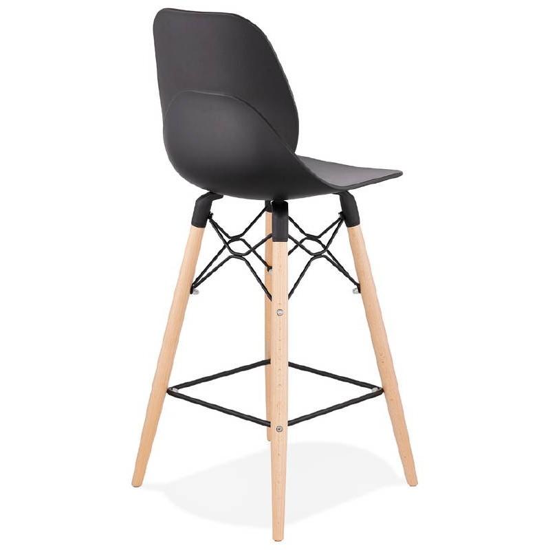 La barra hasta la mitad taburete de la silla de PACO escandinavo (negro) - image 38157