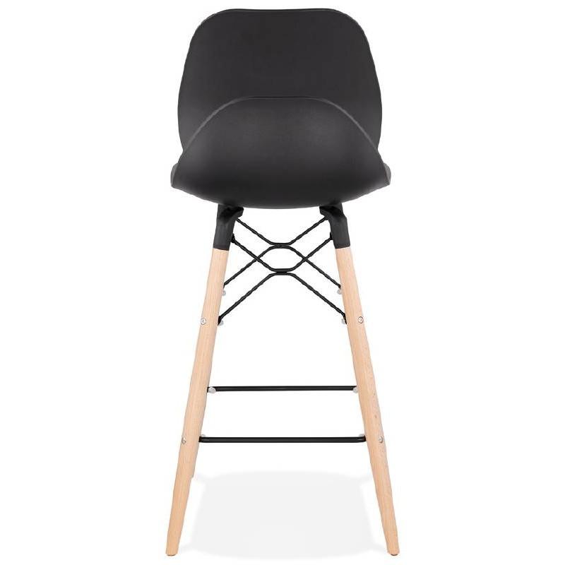 tabouret de bar chaise de bar mi hauteur scandinave paco noir