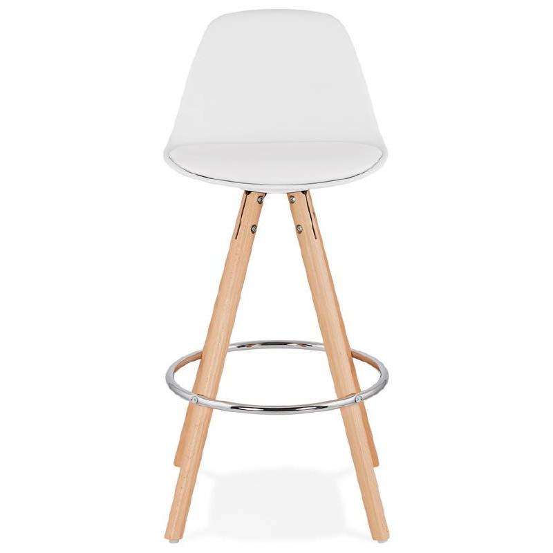 Tabouret de bar mi-hauteur design scandinave OCTAVE MINI (blanc) - image 38214