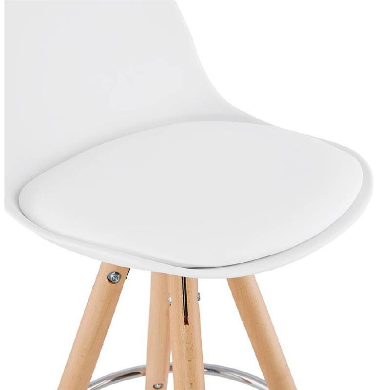 Tabouret de bar mi-hauteur design scandinave OCTAVE MINI (blanc) - image 38219