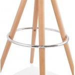 Tabouret de bar mi-hauteur design scandinave OCTAVE MINI (blanc)
