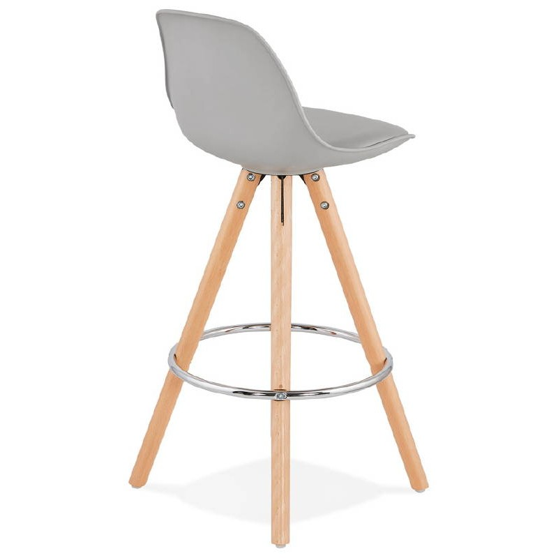 Scandinavian Design Half Octave Mini Bar Stool Light Gray