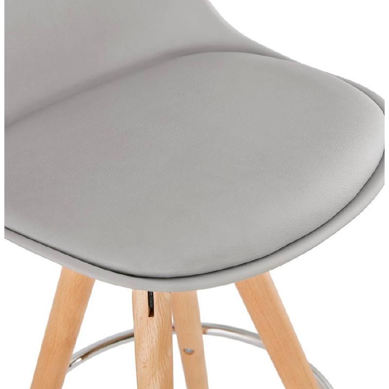 Tabouret de bar mi-hauteur design scandinave OCTAVE MINI (gris clair) - image 38247