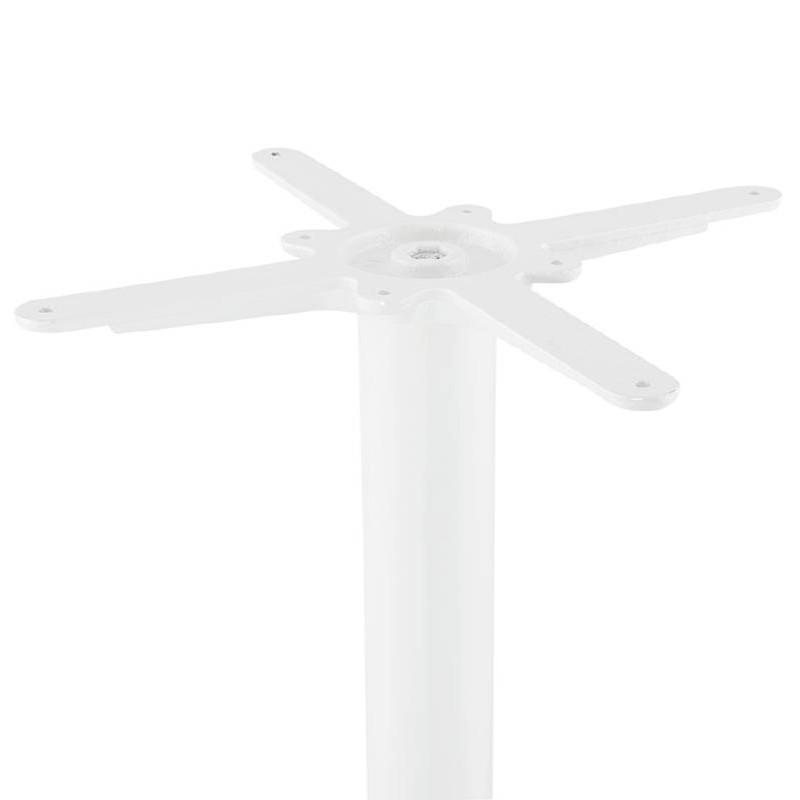 Table haute mange-debout design LUCIE en bois pieds métal blanc (Ø 90 cm) (blanc) - image 38261