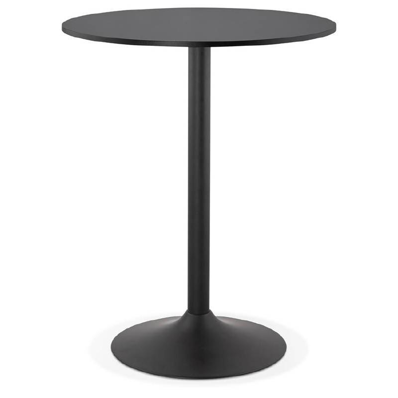 ... Tisch Hoch Stehtisch LUCIE Design Holzfüße (Ø 90 Cm) Schwarz Metall  (schwarz) ...