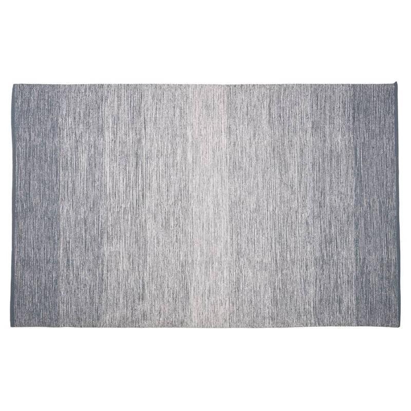 Tapis design rectangulaire (230 cm X 160 cm) BASILE en coton (bleu)
