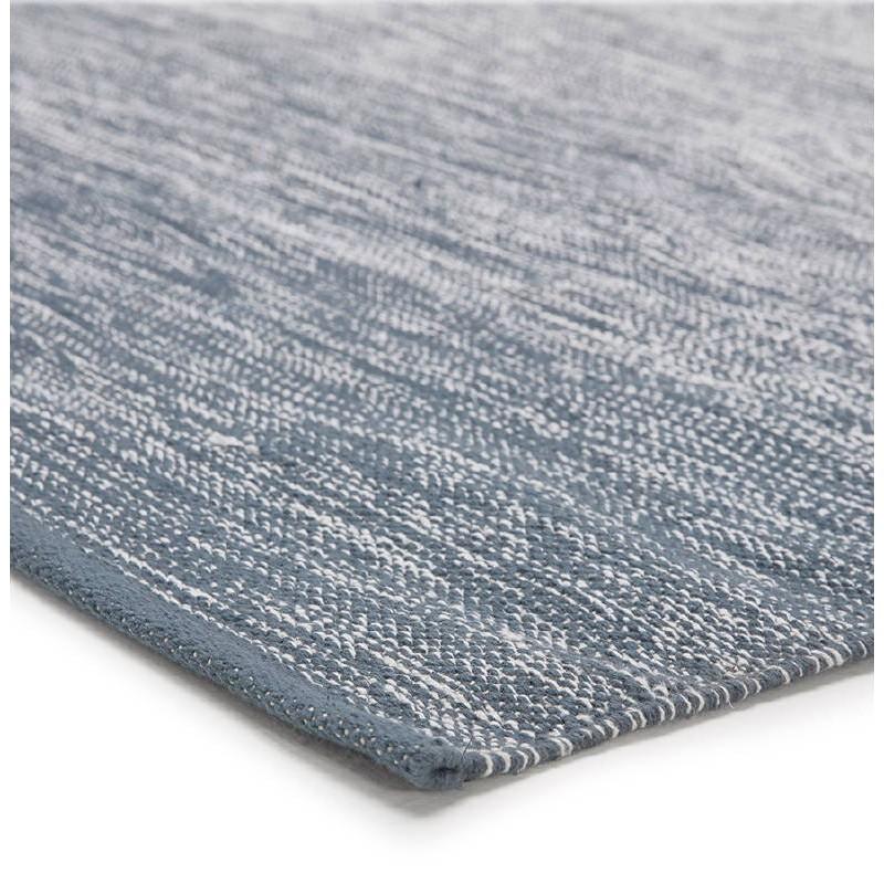 Tappeto design rettangolare (230 X 160 cm) cotone Basil (blu) - image 38510