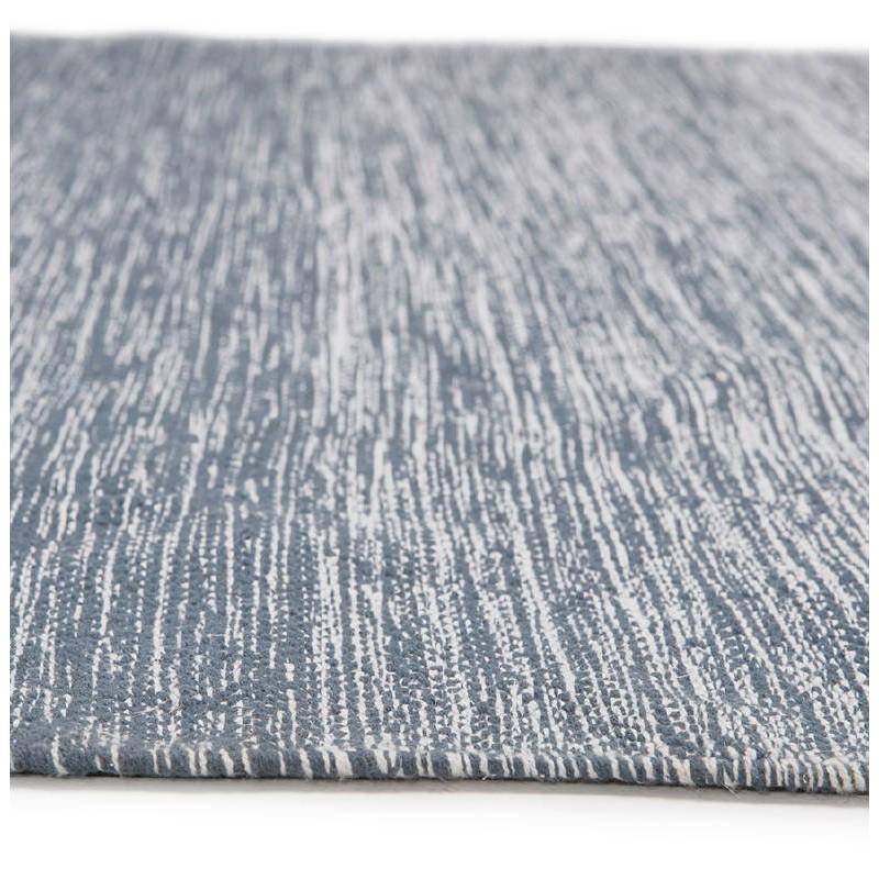 Tappeto design rettangolare (230 X 160 cm) cotone Basil (blu) - image 38511