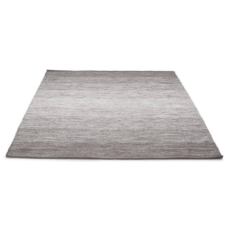 Tappeto design rettangolare (230 X 160 cm) cotone Basil (grigio) - image 38520