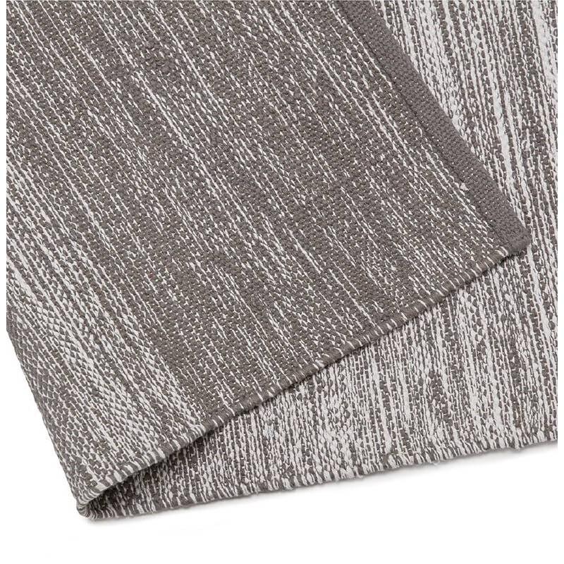 Tappeto design rettangolare (230 X 160 cm) cotone Basil (grigio) - image 38523