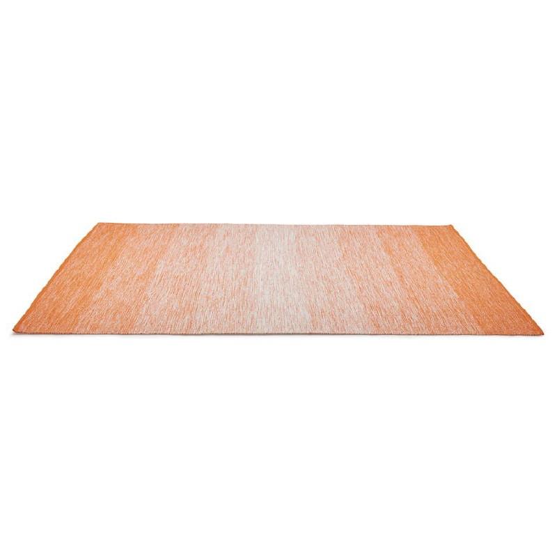 Tapis design rectangulaire (230 cm X 160 cm) BASILE en coton (orange) - image 38530