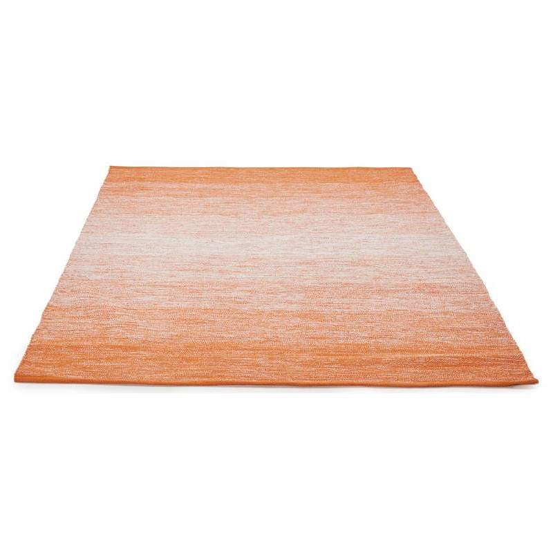 tapis design rectangulaire 230 cm x 160 cm basile en coton orange. Black Bedroom Furniture Sets. Home Design Ideas