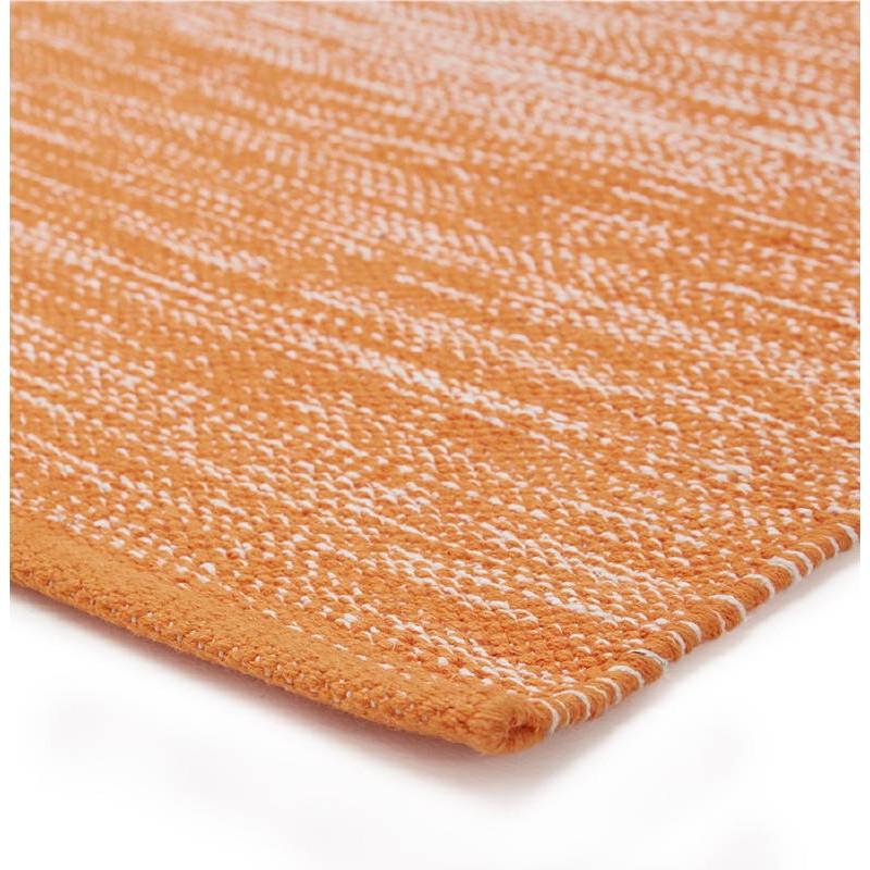 Tapis design rectangulaire (230 cm X 160 cm) BASILE en coton (orange) - image 38532