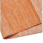 Tapis design rectangulaire (230 cm X 160 cm) BASILE en coton (orange)