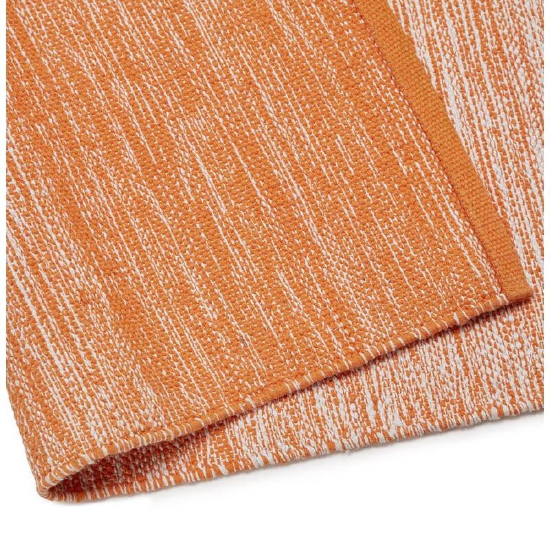 Tapis design rectangulaire (230 cm X 160 cm) BASILE en coton (orange) - image 38534