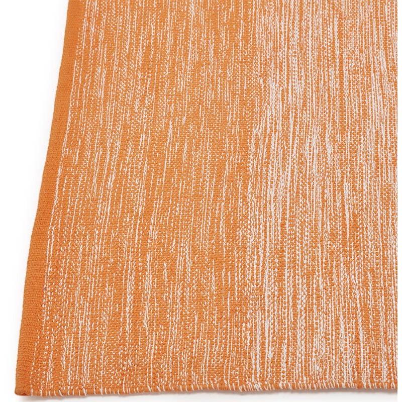 Tapis design rectangulaire (230 cm X 160 cm) BASILE en coton (orange) - image 38535