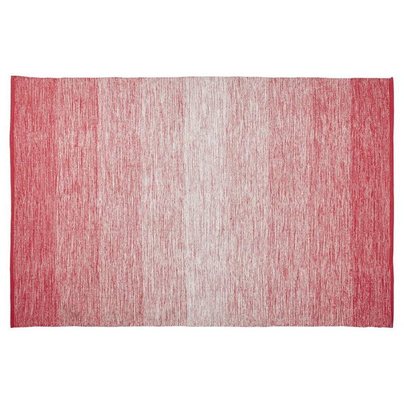 Tapis design rectangulaire (230 cm X 160 cm) BASILE en coton (rouge)