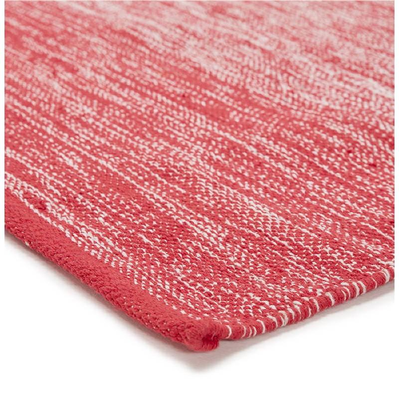 Tapis design rectangulaire (230 cm X 160 cm) BASILE en coton (rouge) - image 38543