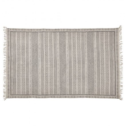 Rectangular design carpet Berber style (230 cm X 160 cm) CELIA in cotton (grey)