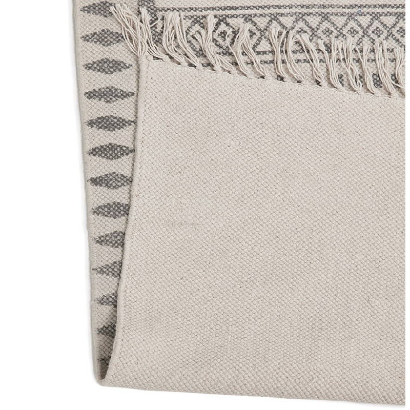 Tapis design rectangulaire style berbère (230 cm X 160 cm) CELIA en coton (gris) - image 38557