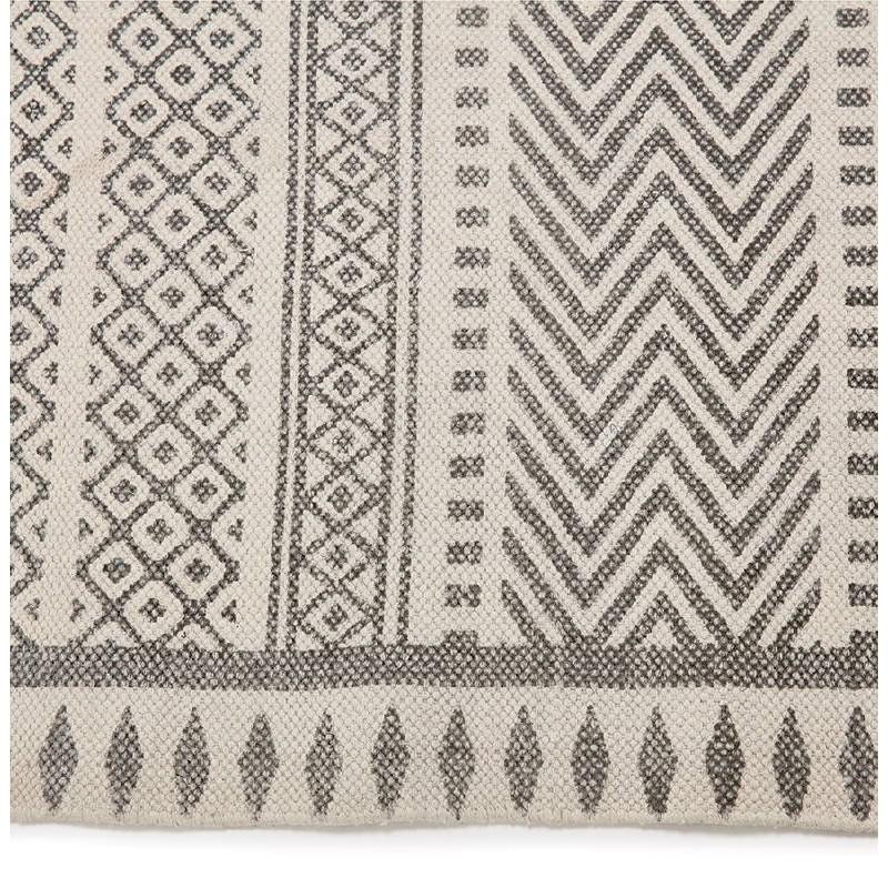 Tapis design rectangulaire style berbère (230 cm X 160 cm) CELIA en coton (gris) - image 38559