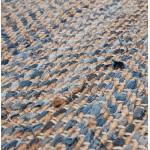 Alfombra diseño rectangular (230 X 160 cm) BELINDA en jeans y cáñamo (azul, marrón)