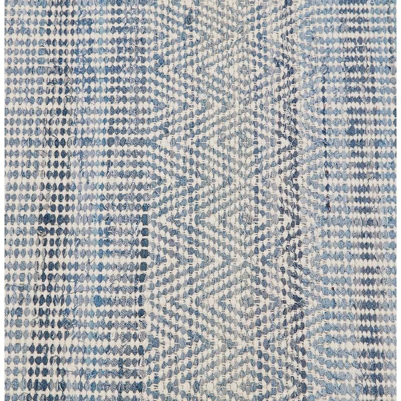 Tapis design rectangulaire (230 cm X 160 cm) BALBINE en jeans et laine (bleu, beige) - image 38580